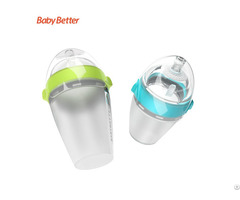 Baosheng Anti Colic Baby Feeding Bottle Wide Neck And Liquid Silicone Milk Bottles Bpa Free