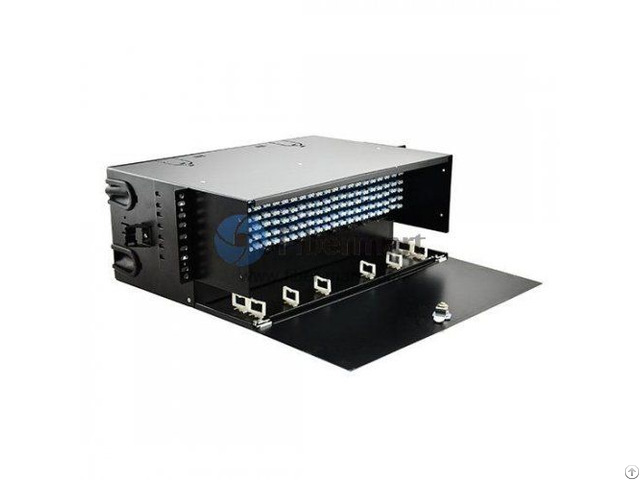 Loaded Lc Faps 4ru Rack Mount Fiber Enclosure Panduit Frme4 Compatible 288 Ports