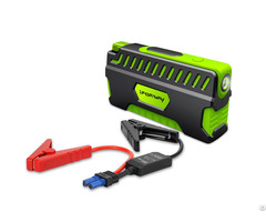 400a Peak 12000mah Portable Car Jump Starter With Jumper Cables Auto Battery Booster Power Bank