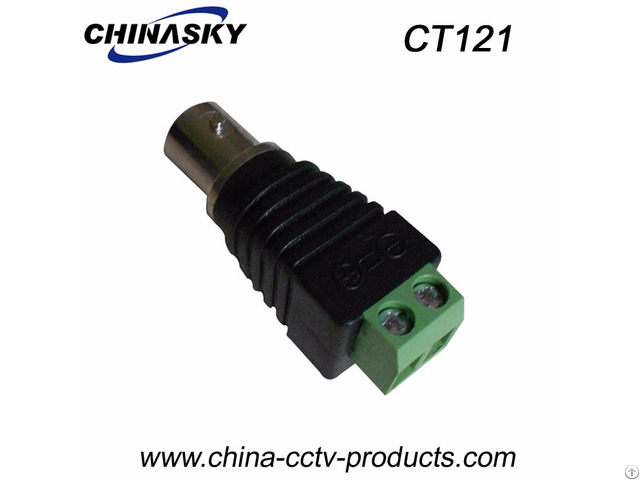 Bnc Female Connector To Screw Terminal Ct121