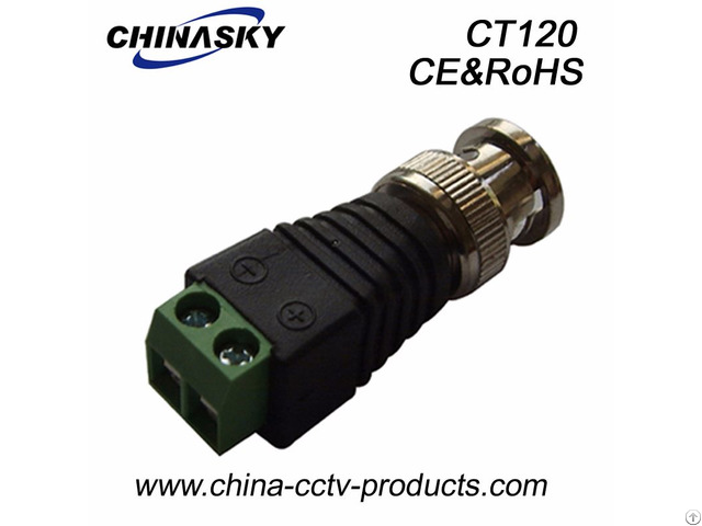 Bnc Male Connector To Screws Terminal Ct120