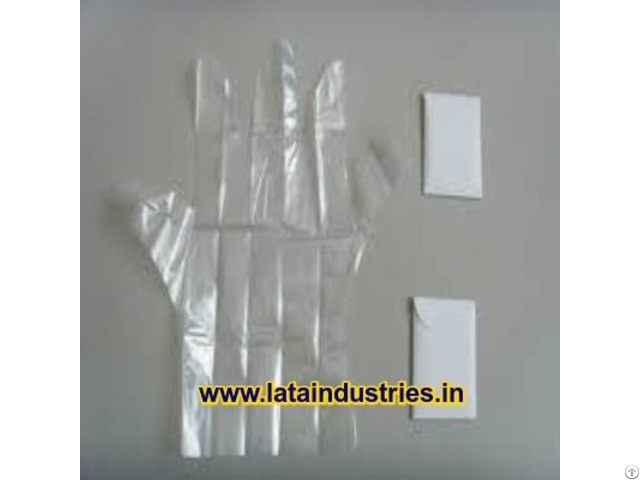 Plastic Disposable Hand Gloves Pair Pack