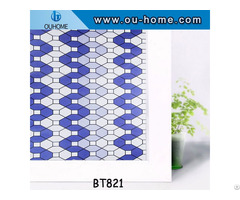 Ouhome Window Film Pvc Stained Glass Home Privacy Stickers