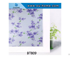 Ouhome Stained Decorative Glass Frosted Pvc Window Film Privacy