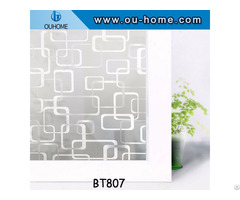 Privacy Frosted Pvc Window Stained Decorative Glass Film
