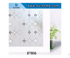 Pvc Home Decor Window Film Stained Privacy Stickers