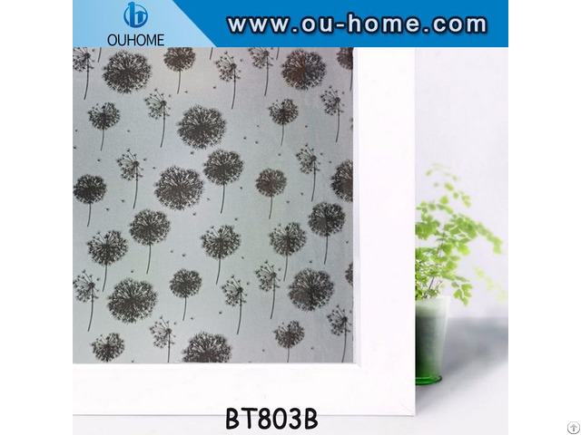 Ouhome Pvc Window Decal Self Adhesive Film Privacy Wall Sticker