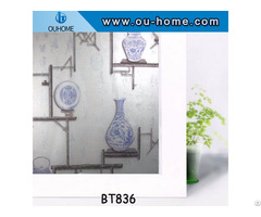 Decor Stained Decorative Glass Frosted Pvc Window Film Privacy