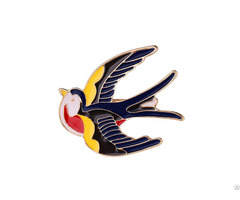 Handmade Enamel Jewelry Cartoon Swallow Black Jewellery Pins