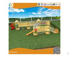 Amusement Equipment Children Preschool Wooden Slide Outdoor Playground