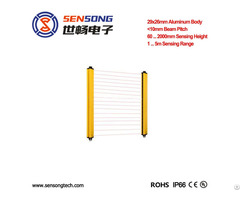 Area Sensor Also Safety Light Curtain For Finger Hand Body Protection 35mm Thin Npn Pnp Relay