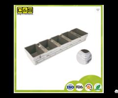 Cs Industrial 5 Straps Aluminium Baking Loaf Pan