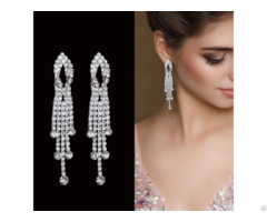 Xqe 2027 Quality Luxury Latest Design Round Shaped Earring Jewelry For Lady