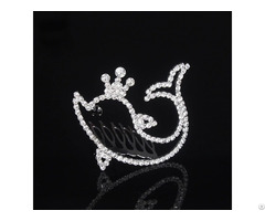 Sparkly Birthday Tiara Quinceanera Crown Silver Diamante 15th Party Teenage Girl Hair Jewelry