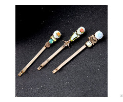 High Quality Kinds Of Metal Rhinestone Hairpin For Women