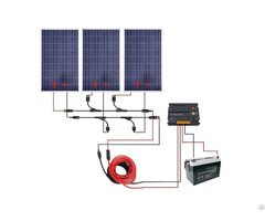300w Off Grid Solar Panel Kits For 12v Charging System