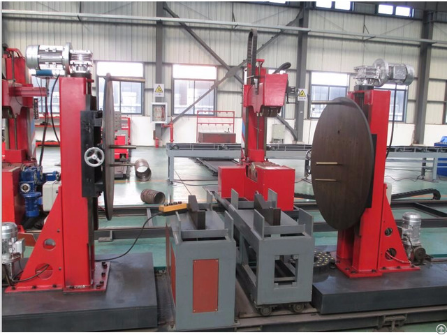 Pipe Prefabrication Slip On Flange Fit Up Machine