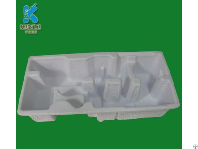 Custom Protective Biodegradable Molded Fiber Tray Electronic Products Paper Pulp Box