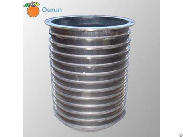 Stainless Steel Wedge Wire Slotted Pressure Screen Basket