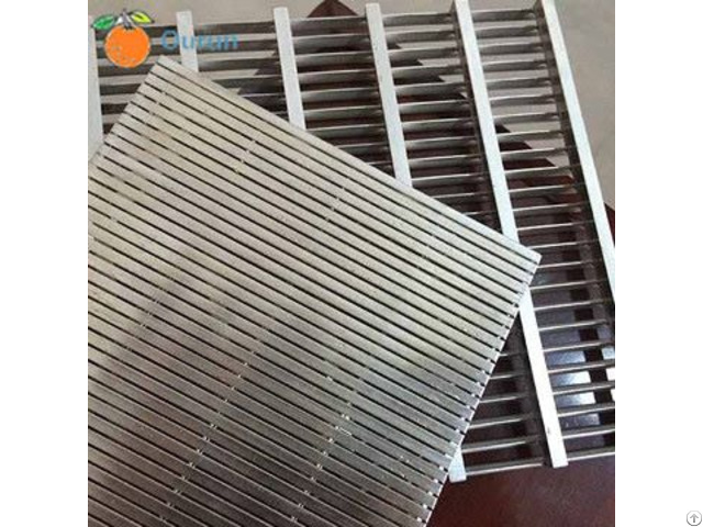 Stainless Steel Wedge Wire Vee Shaped Or V Wires Flat Screen Panel