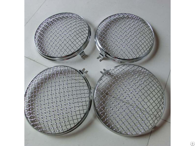 9inch 220mm Dia Round Headlight Stone Guard Grilles For Volkswagen