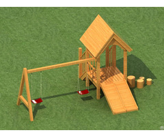 Wooden Swing Outdoor Playground Amusement Equipment For Baby