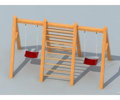 Amusement Equipment Children Preschool Outdoor Playground Wooden Swing