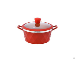 Good Quality Round Shape Ceramic Hera Casserole Double Handle With Glass Lid