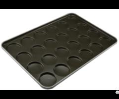 Cs Tefln Coating Aluminum Metal Hamburger Bun Baking Pan