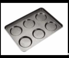 Cs European Standard 3 5 4 Tefoln Coated Metal Hamburger Bun Baking Pan