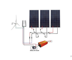 110v 850w Completed Solar Wind Hybrid System