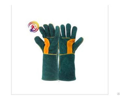 Cow Split Leather Bbq Camping Cooking Weld Gloves Baking Grill Fireplace Fireproof Glove