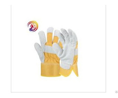 Split Leather Design Heavy Duty Industrial Safety Mechanics Woodworking Glove