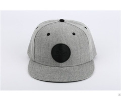 Custom 2018 Trendy Wool Cap With Leather Patch