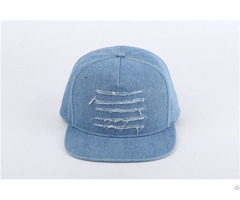 Blank Cowboy Fabric Washed Tattered Baseball Cap