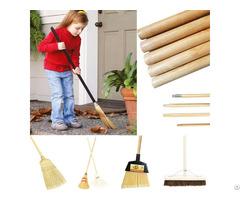 Wooden Broom Mop Handle Stick