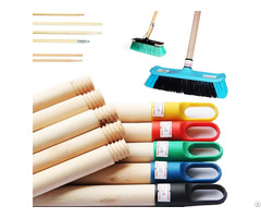 Natural Wooden Broom Brush Mop Ceiling Hardwood Handle Stick Thread Metal Cap