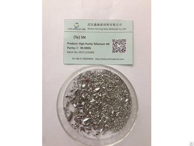 High Purity Tellurium 5n 99.999% Tellurium Lump