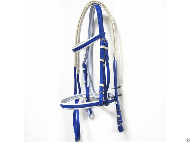 Fancy And Cold Resistant Pvc Horse Bridle With Rein
