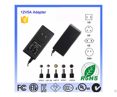 Level Vi 24v White Shell Us Plug Ac Dc Switching Power Adaptor 60w 12v Interchangeable Adapter