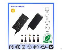 Level Vi 24v White Shell Us Plug Ac Dc Switching Power Adaptor 60w 12v Interchangeable Adapter