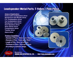 Speaker Parts T Yoke And Pole Plate