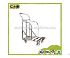 Stainless Steel Cake Pan Transport Carts Serving Stocking Cart For Bakery Production