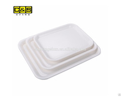 Fda Food Graded Plastic Serving Tray Bakery Bread Display Trays