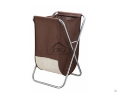 X Frame Laundry Hamper W Canvas Bag