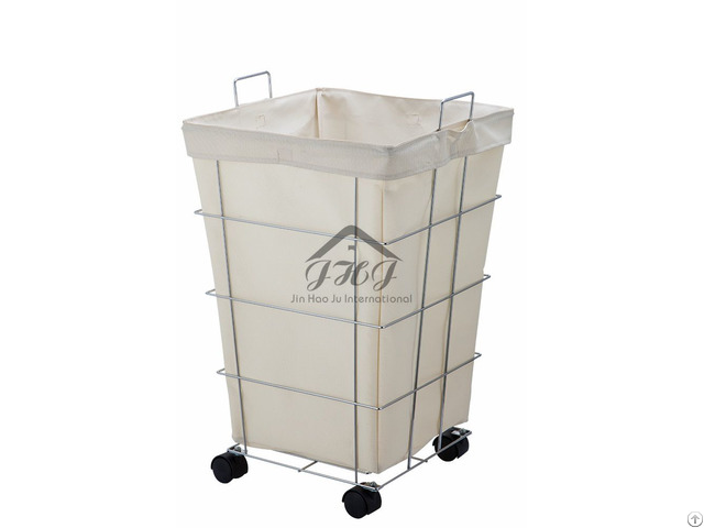 Canvas Rolling Laundry Hamper