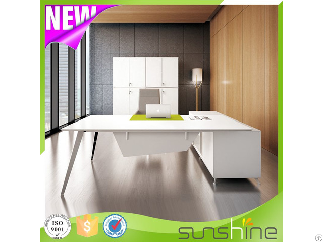 New Modern White Office Executive Desk Zs M2090