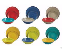 18pcs Stoneware Ceramic Handpainted Dinnerware Dinnerset