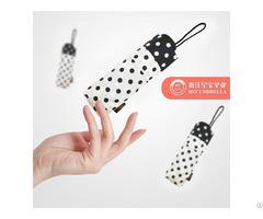 Rst Nice Anti Uv Compact Travel Durable Tiny Supermini Wave Point Polka Dots Umbrellals