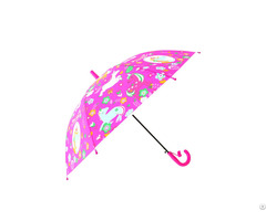 Rst Cartoon Figure Unicorn Printed Colorful For Young Students Kids Umbrellas